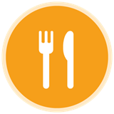 Restaurant icon of fork and knife